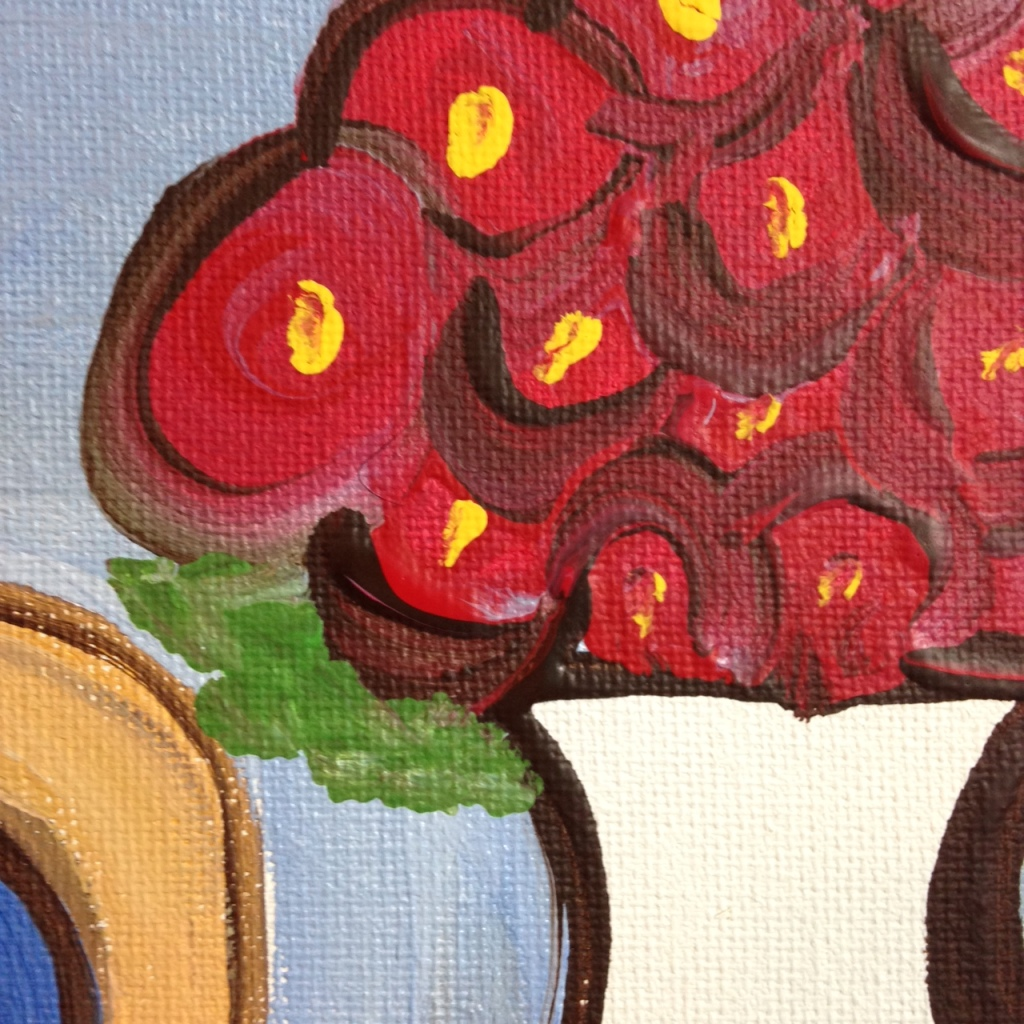 Close-Up 1 Seated Nude- Tribute to Robert De Niro Sr.  Linda Cleary 2014 Acrylic on Canvas
