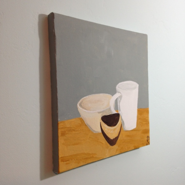 Side-View Natura Morta I- Tribute to Giorgio Morandi Linda Cleary 2014 Acrylic on Canvas