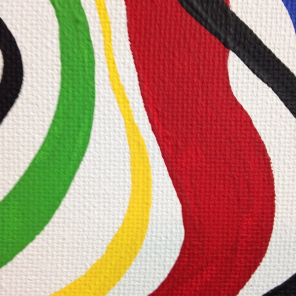 Close-Up 2 Eye of the Future- Tribute to Taro Okamoto Linda Cleary 2014 Acrylic on Canvas