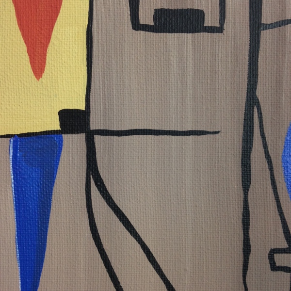 Close-Up 2 Composition 153- Tribute to Gustave Singier Linda Cleary 2014 Acrylic on Canvas