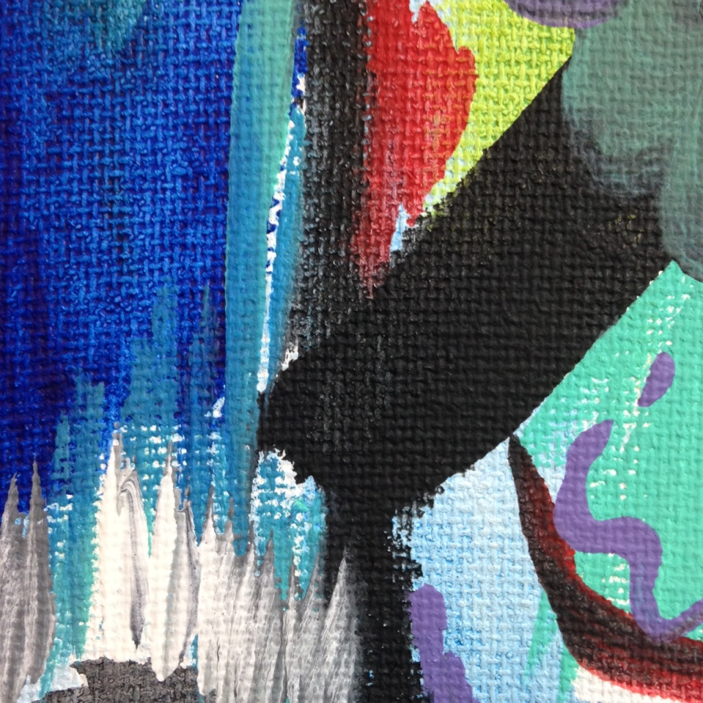 Close-Up 2 Storm's Coming- Tribute to John Seery Linda Cleary 2014 Acrylic on Canvas
