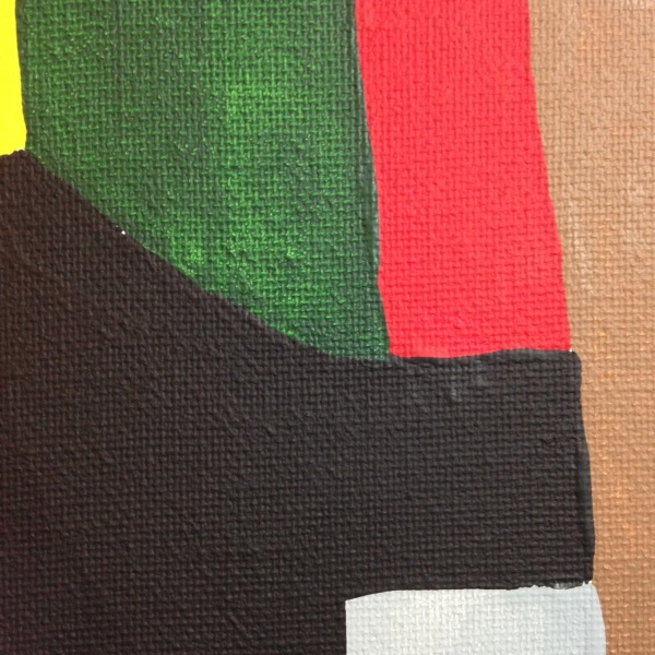 Close-Up 2 Composition 167- Tribute to Serge Poliakoff Linda Cleary 2014 Acrylic on Canvas