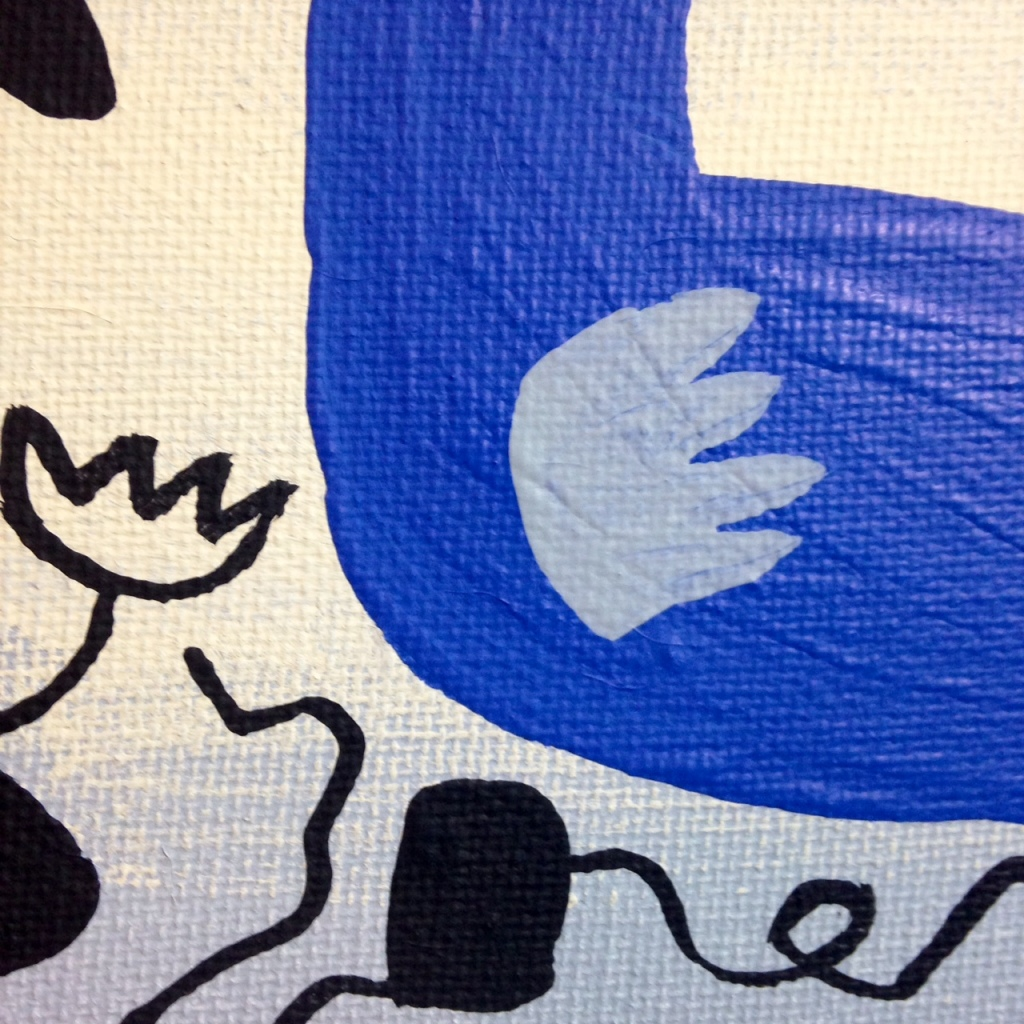 Close-Up 2 Phantom!- Tribute to Willi Baumeister Linda Cleary 2014 Acrylic on canvas