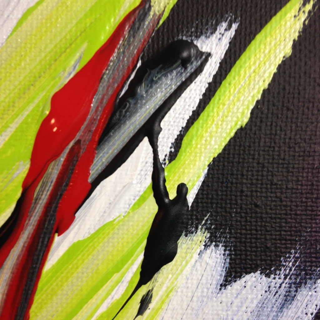 Close-Up 2 Bonheur- Tribute to Pierre Fichet Linda Cleary 2014 Acrylic on Canvas