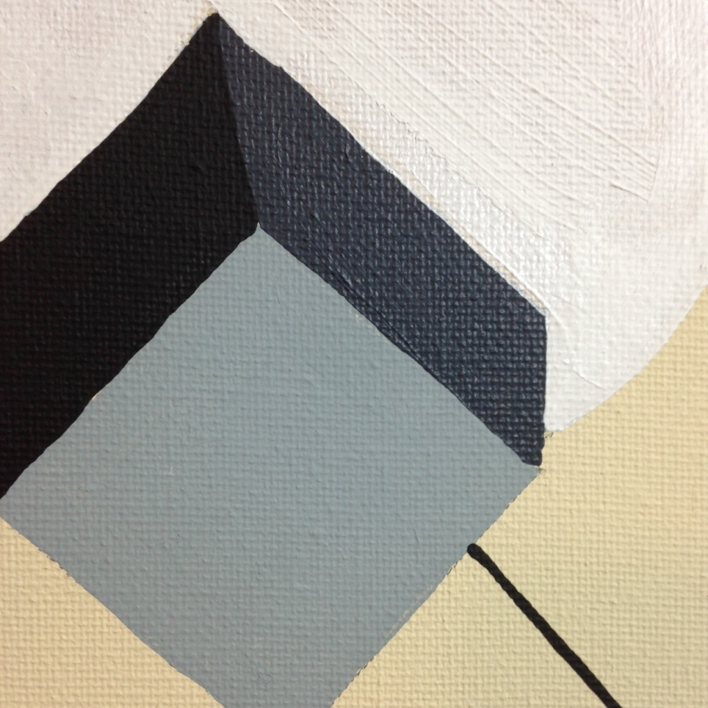 Close-Up 2 The Shape of Things- Tribute to El Lissitzky Linda Cleary 2014 Acrylic on Canvas