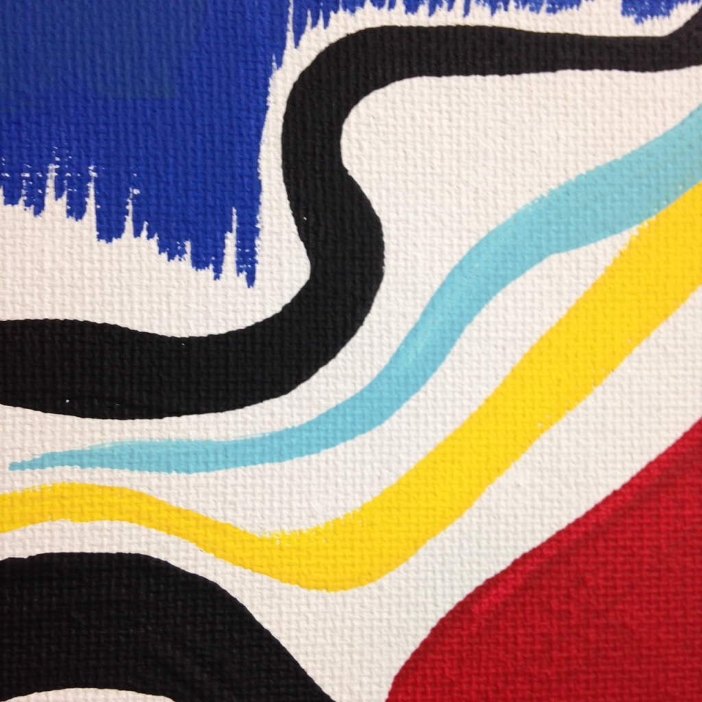 Close-Up 3 Eye of the Future- Tribute to Taro Okamoto Linda Cleary 2014 Acrylic on Canvas