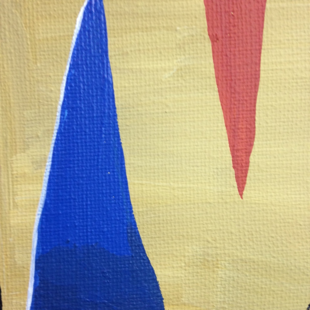 Close-Up 3 Composition 153- Tribute to Gustave Singier Linda Cleary 2014 Acrylic on Canvas