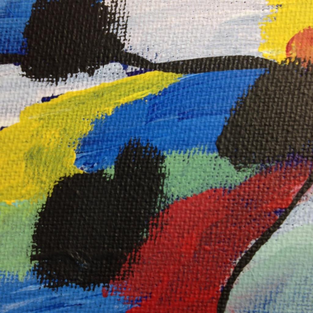 Close-Up 3 Bleus de Printemps- Tribute to Jean Le Moal Linda Cleary 2014 Acrylic on Canvas