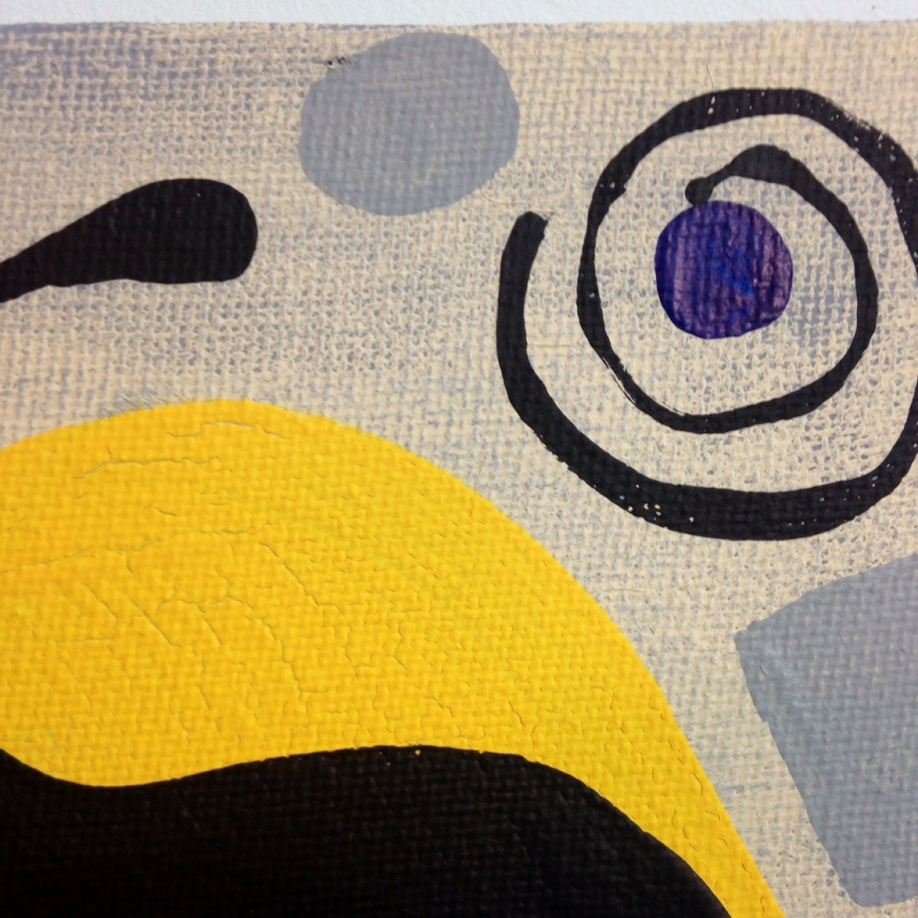Close-Up 3 Phantom!- Tribute to Willi Baumeister Linda Cleary 2014 Acrylic on canvas
