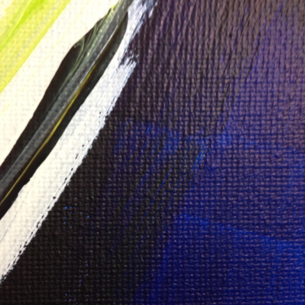 Close-Up 3 Bonheur- Tribute to Pierre Fichet Linda Cleary 2014 Acrylic on Canvas