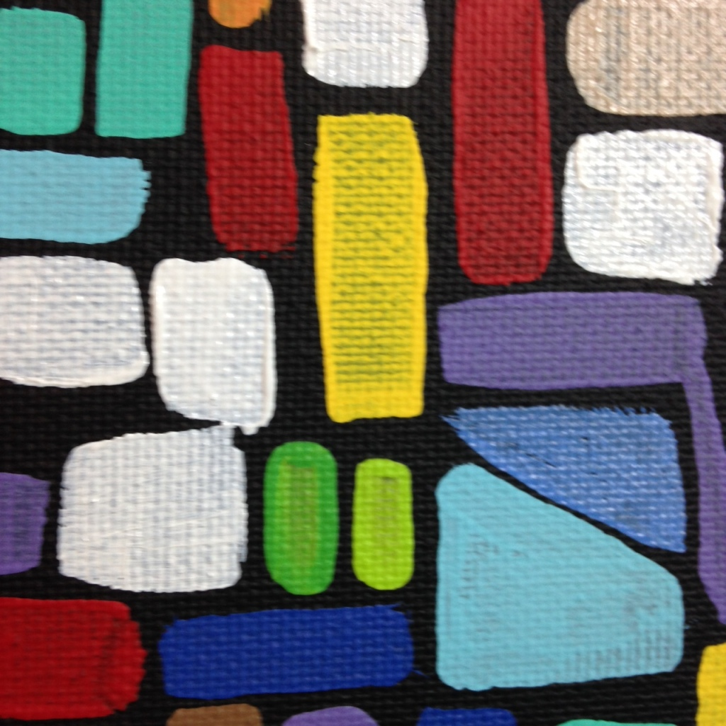 Close-Up 3 Composition 159- Tribute to Roger Bissiere Linda Cleary 2014 Acrylic on Canvas