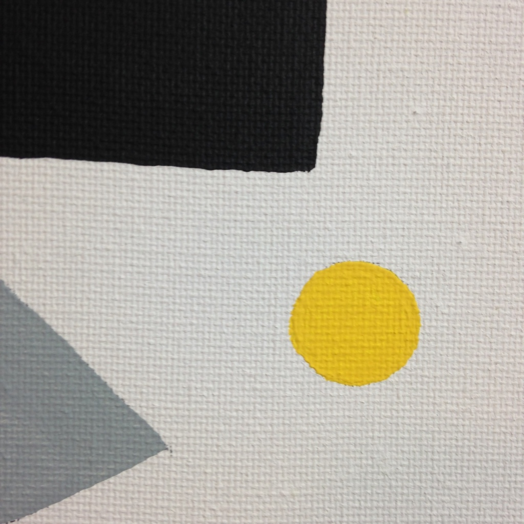 Close-Up 3 Suprematist- Tribute to Kazimir Malevich Linda Cleary 2014 Acrylic on Canvas