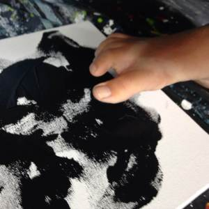 Painting WITH my toe...