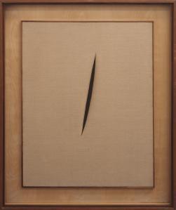 Spatial Concept 'Waiting' 1960 Lucio Fontana