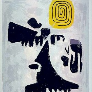 Spiral on Yellow- Willi Baumeister