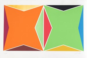 Untitled - Two Shapes (Orange and Green)