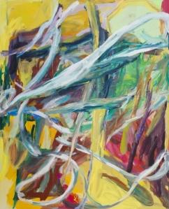"""Behind Lufkin's Diner 2013 Oil on canvas 64x52.25"""" / 162.6x134.6cm"""