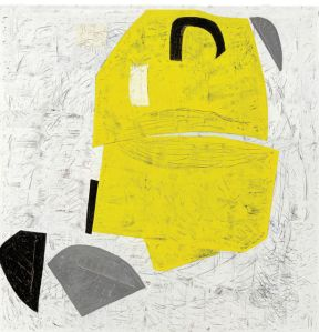 Lemon Wedge, 2011 Encaustic and graphite on wood panel
