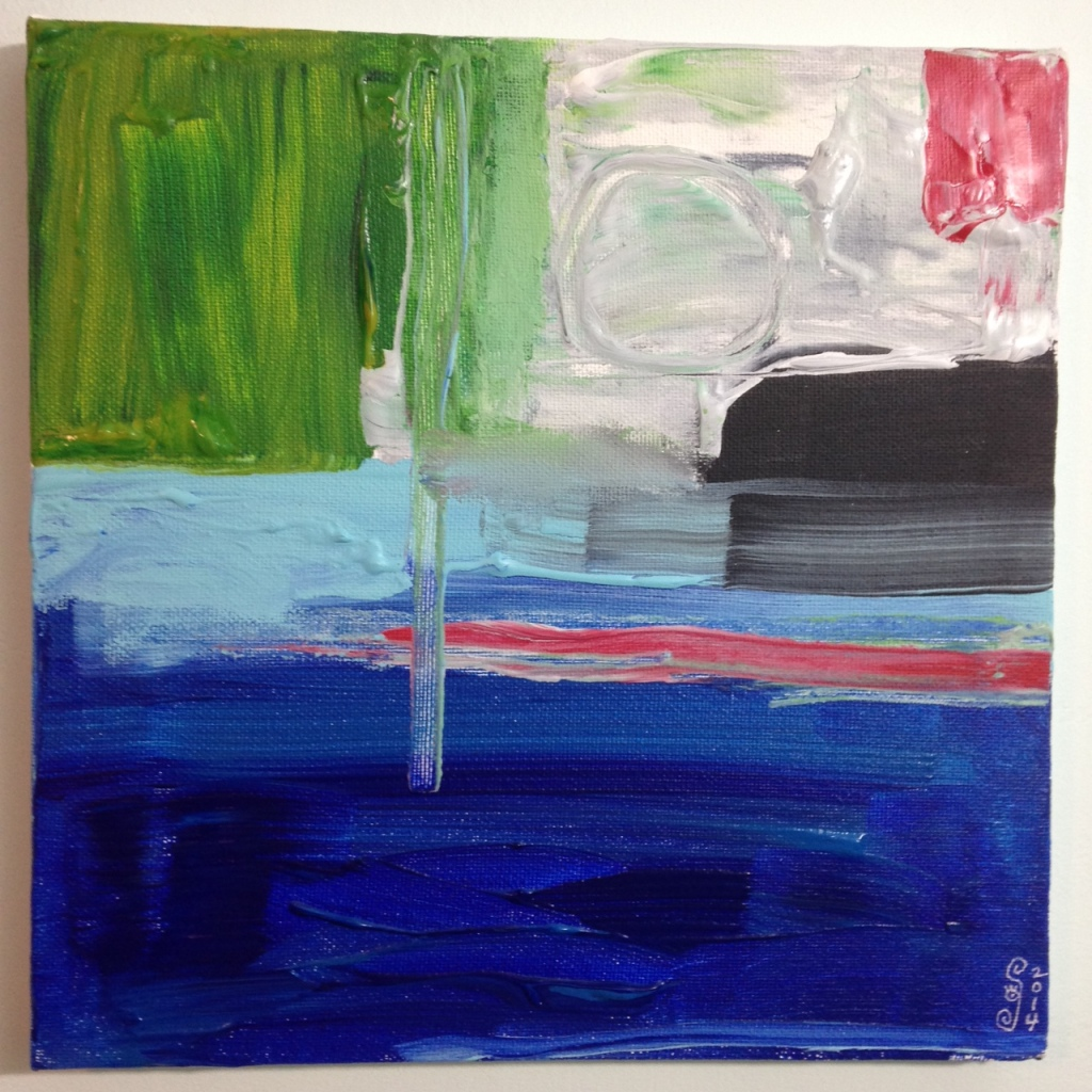 Seaside- Tribute to Frank Wimberley Linda Cleary 2014 Acrylic on Canvas