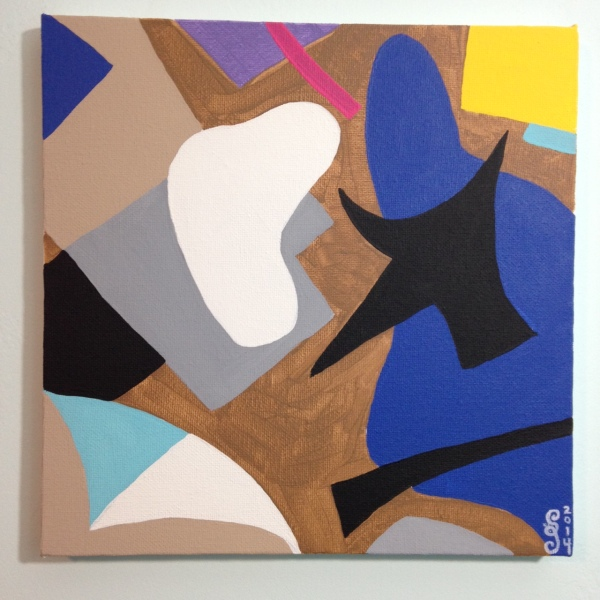 Composition #194- Tribute to Esphyr Slobodkina Linda Cleary 2014 Acrylic on Canvas