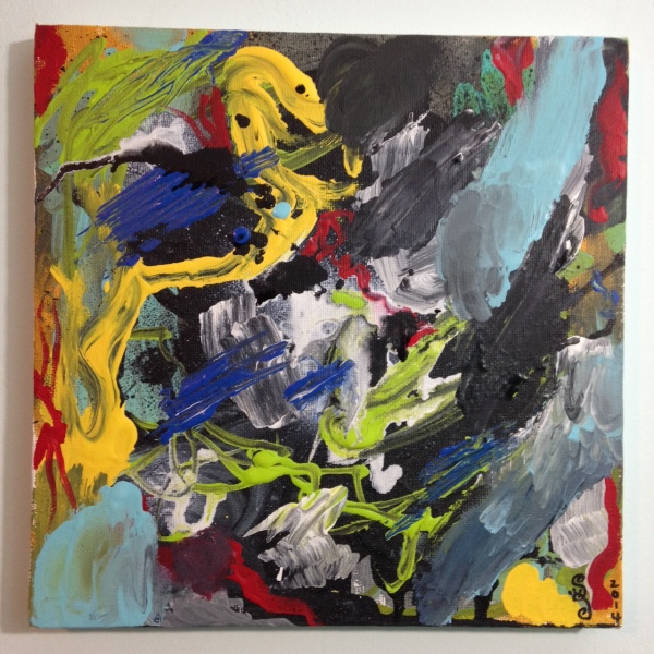 Het Begin Van Het Einde- Tribute to Asger Jorn Linda Cleary 2014 Acrylic on Canvas
