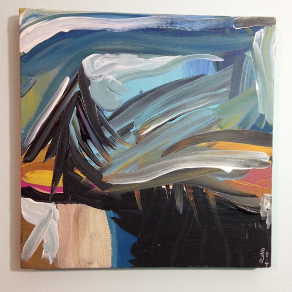 Sunset in the Backyard- Tribute to Wallace Whitney Linda Cleary 2014 Acrylic on Canvas