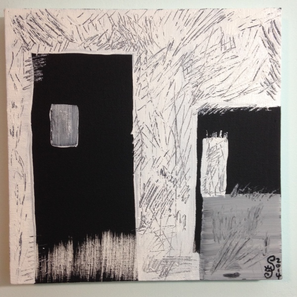 Doorways at Night- Tribute to Keith Johnston Linda Cleary 2014 Acrylic on Canvas