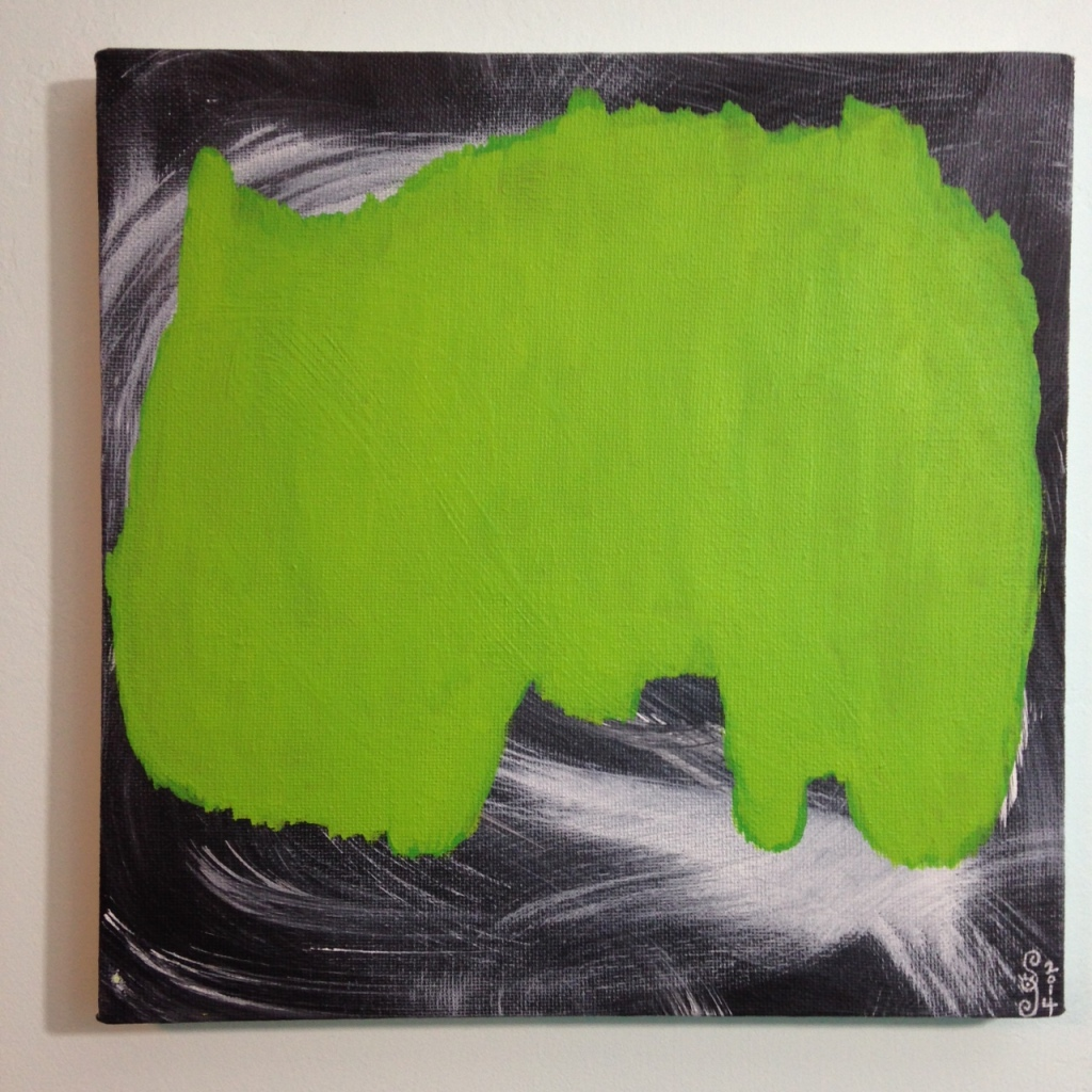 Emerald Daze- Tribute to Jeff Muhs Linda Cleary 2014 Acrylic on Canvas