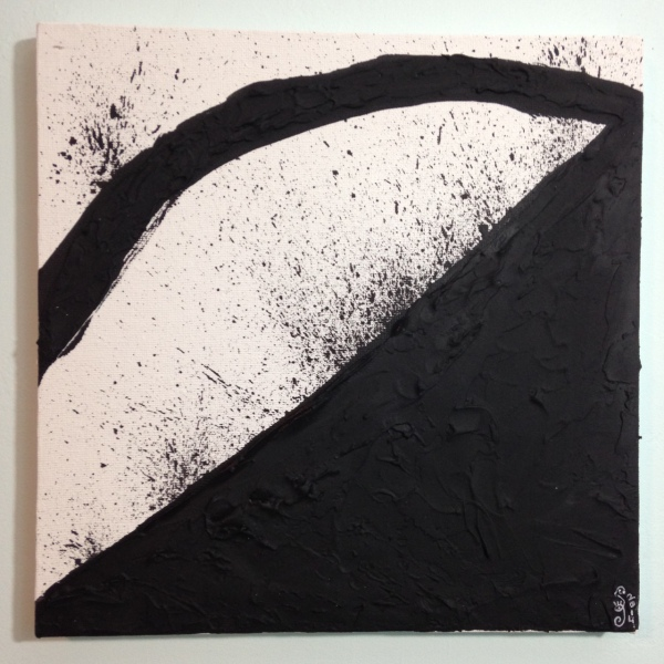 Incline- Tribute to Richard Serra Linda Cleary 2014 Spackle & Acrylic on Canvas