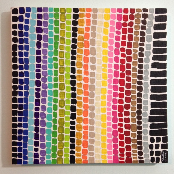 Full Spectrum- Tribute to Alma Woodsey Thomas Linda Cleary 2014 Acrylic on Canvas