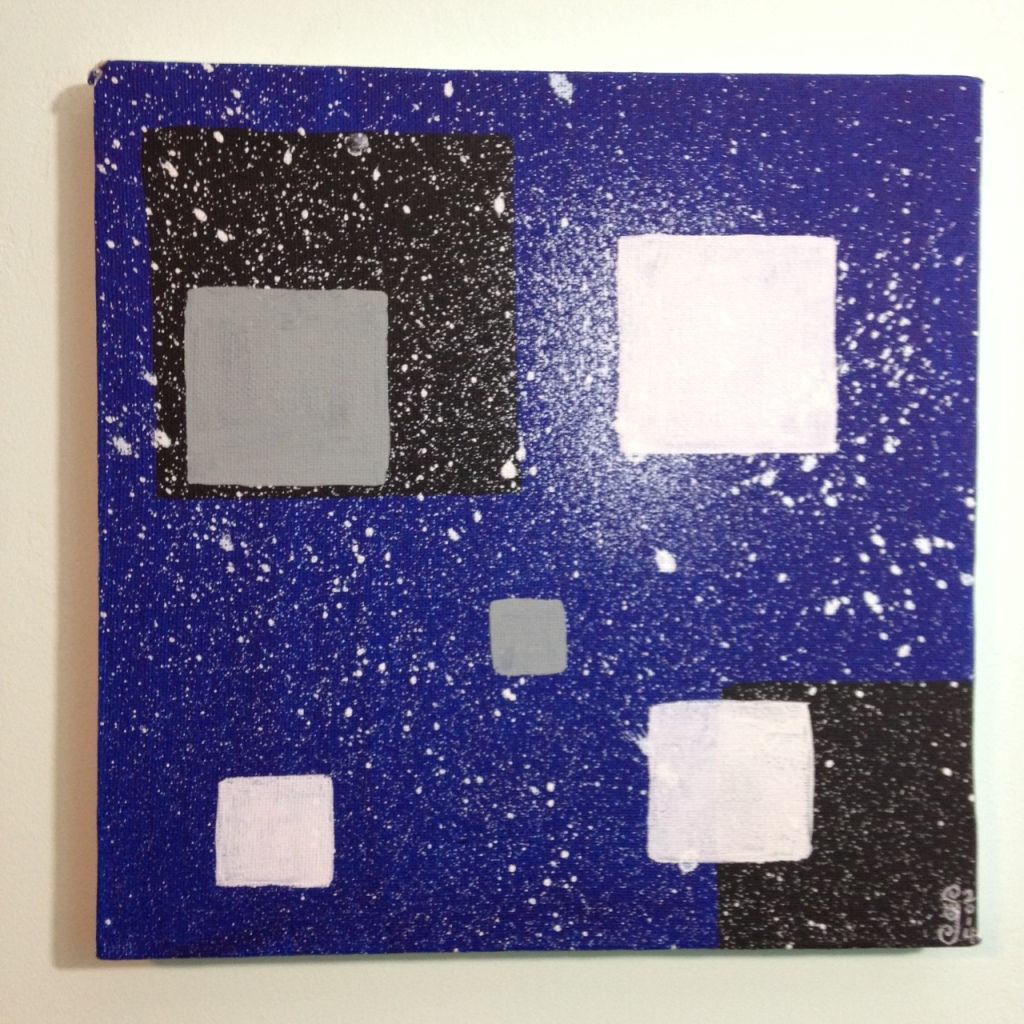 Midnight- Tribute to Alice Trumbull Mason Linda Cleary 2014 Acrylic on Canvas