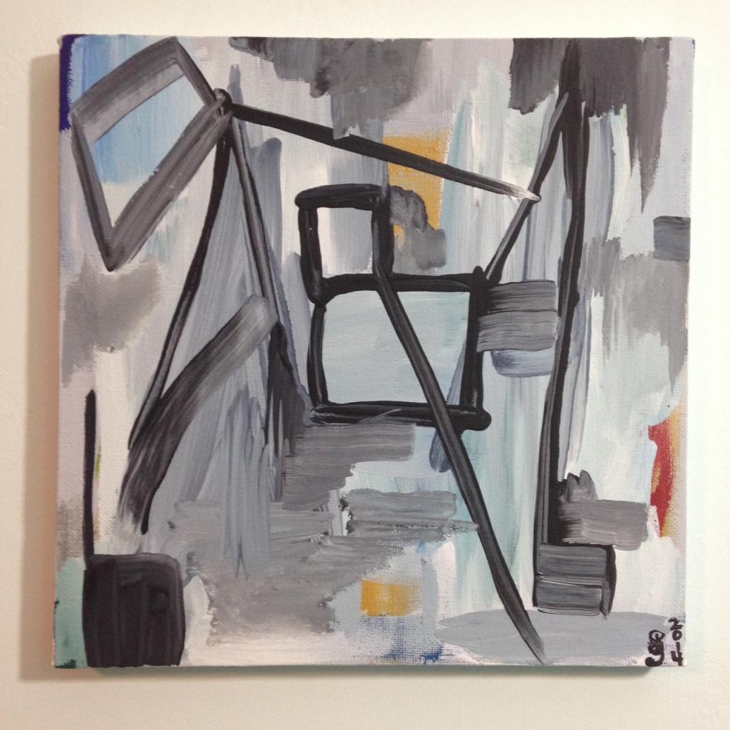 Bridge- Tribute to Gertrude Greene Linda Cleary 2014 Acrylic on Canvas
