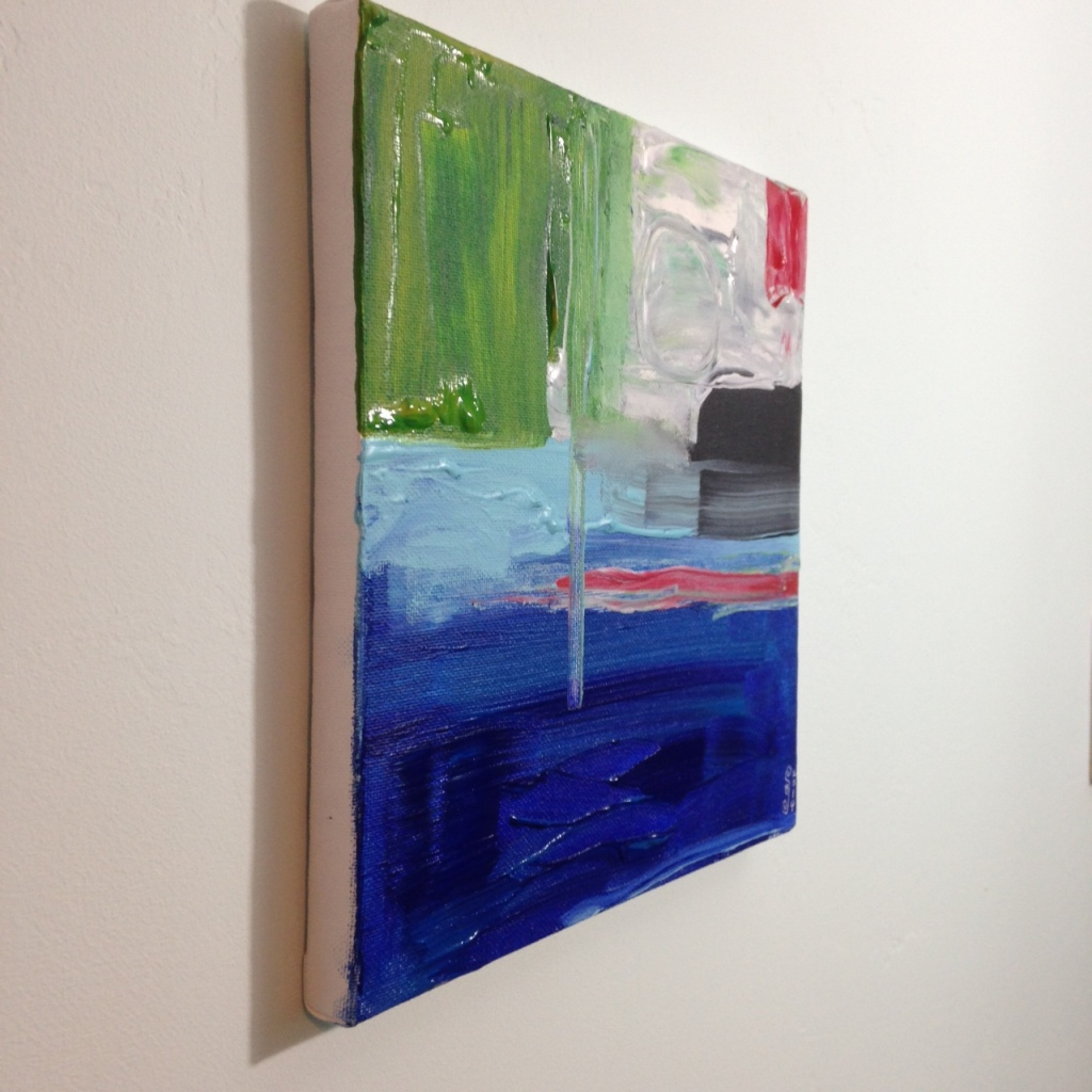 Side-View Seaside- Tribute to Frank Wimberley Linda Cleary 2014 Acrylic on Canvas