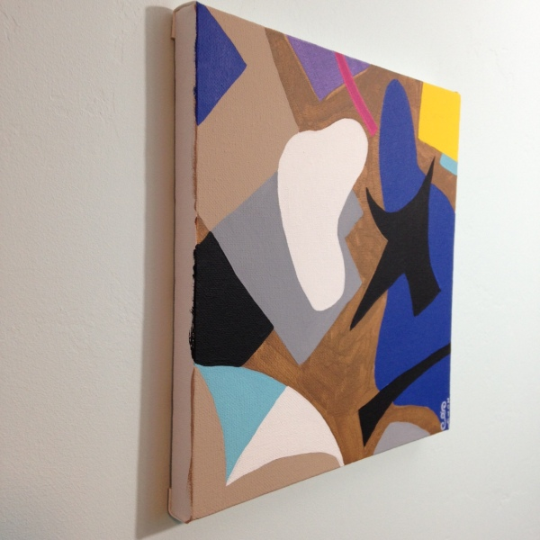 Side-View Composition #194- Tribute to Esphyr Slobodkina Linda Cleary 2014 Acrylic on Canvas