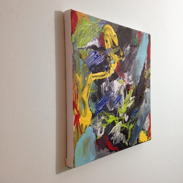 Side-VIew Het Begin Van Het Einde- Tribute to Asger Jorn Linda Cleary 2014 Acrylic on Canvas
