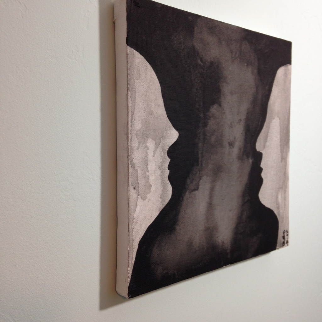 Side-View Part of Me- Tribute to Amy Pleasant Linda Cleary 2014 Watercolor & Acrylic on Canvas
