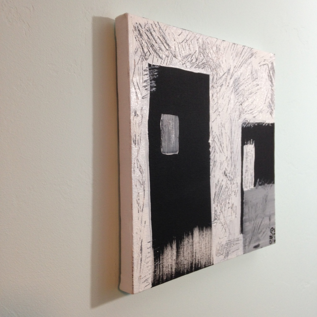 Side-View Doorways at Night- Tribute to Keith Johnston Linda Cleary 2014 Acrylic on Canvas