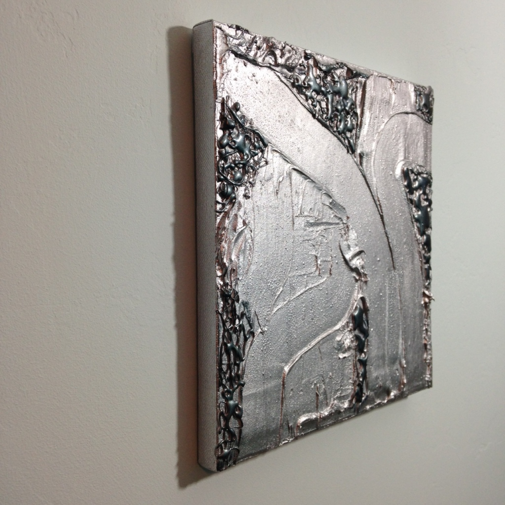 Side-View Silver Trails- Tribute to Jimi Gleason Linda Cleary 2014 Mixed Media on Canvas