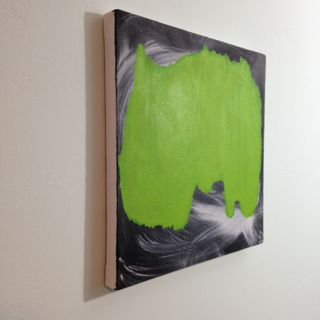 Side-View Emerald Daze- Tribute to Jeff Muhs Linda Cleary 2014 Acrylic on Canvas