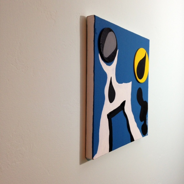 Side-View Nuit Sonne- Tribute to Jean (Hans) Arp Linda Cleary 2014 Wood Cutouts & Acrylic on Canvas