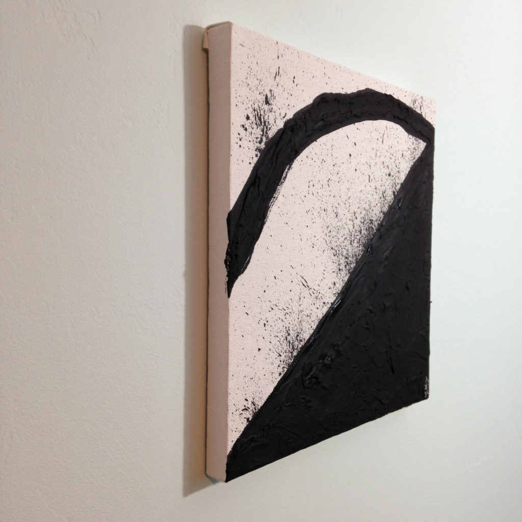 Side-View Incline- Tribute to Richard Serra Linda Cleary 2014 Spackle & Acrylic on Canvas