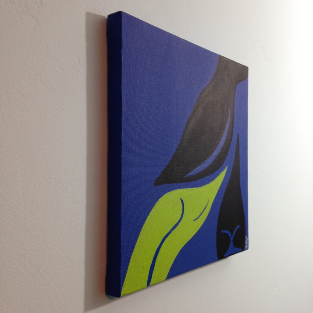 Side-View Sway- Tribute to Jack Youngerman Linda Cleary 2014 Acrylic on Canvas