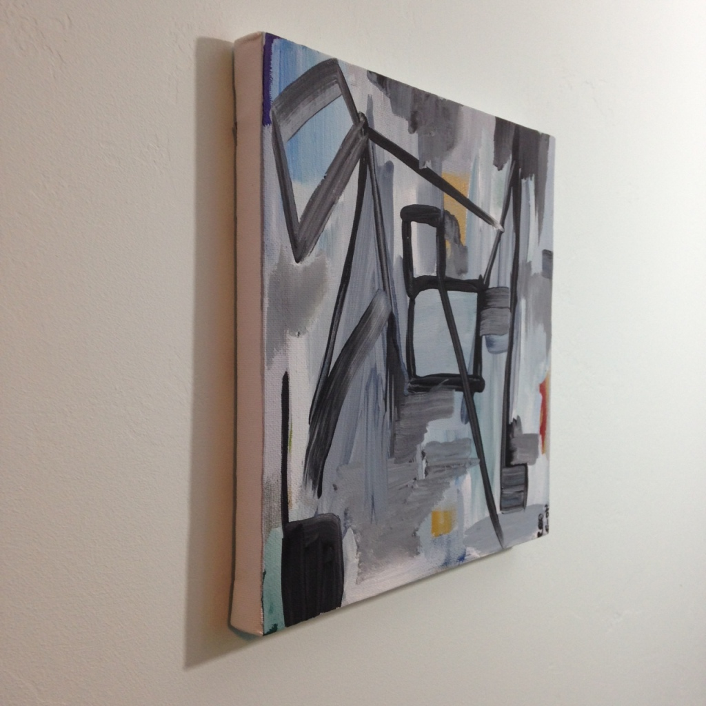 Side-View Bridge- Tribute to Gertrude Greene Linda Cleary 2014 Acrylic on Canvas