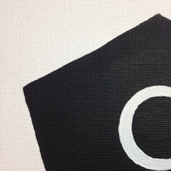 Close-Up 1 Pentagon with Circle- Tribute to Olivier Mosset Linda Cleary 2014 Acrylic on Canvas