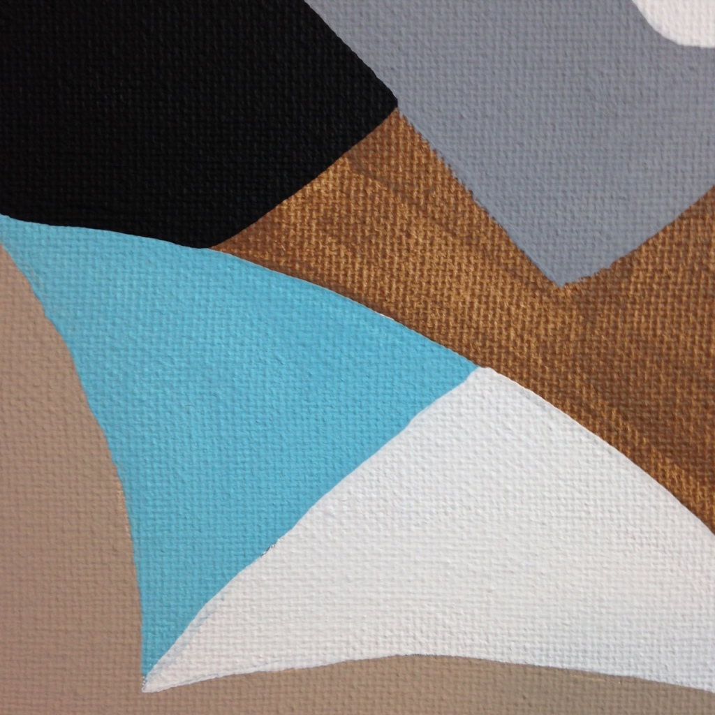 Close-Up 1 Composition #194- Tribute to Esphyr Slobodkina Linda Cleary 2014 Acrylic on Canvas