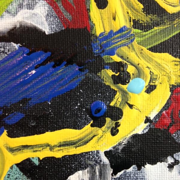 Close-Up 1 Het Begin Van Het Einde- Tribute to Asger Jorn Linda Cleary 2014 Acrylic on Canvas