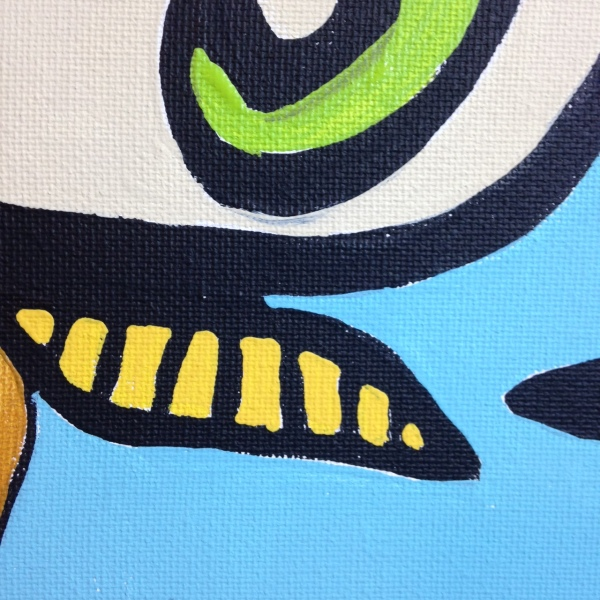 Close-Up 1 Untitled 184- Tribute to Jean-Michel Atlan Linda Cleary 2014 Acrylic on Canvas
