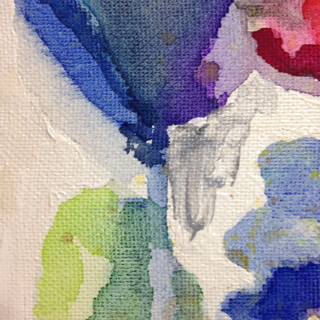 Close-Up 1 Blooming Field- Tribute to Meredith Pardue Linda Cleary 2014 Watercolor/Acrylic on Canvas