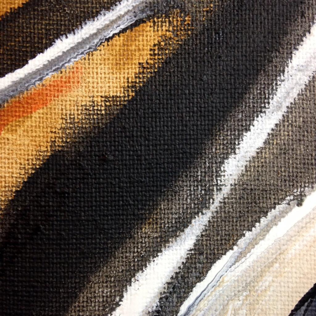 Close-Up 1 Voie Courbé- Tribute to Huguette Arthur Bertrand Linda Cleary 2014 Acrylic on Canvas