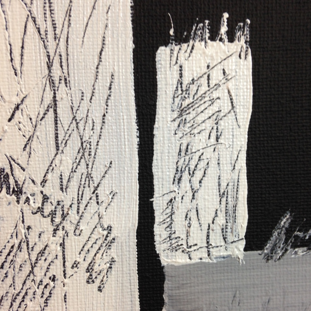 Close-Up 1 Doorways at Night- Tribute to Keith Johnston Linda Cleary 2014 Acrylic on Canvas
